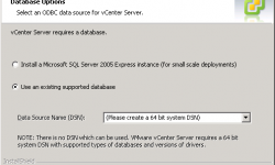 VMWare vCenter Server Database Options
