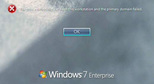 the trust relationship has been broken windows 7