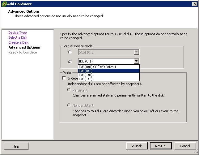 VMWare ESX: Blue screen during installation of Windows XP