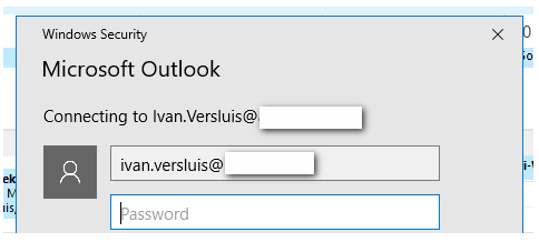 Office 365: Exchange Hybrid issue with Windows Security of Outlook