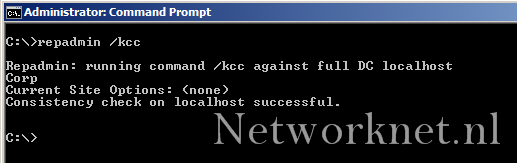 Active Directory : KCC recreate NTDS links | Networknet nl