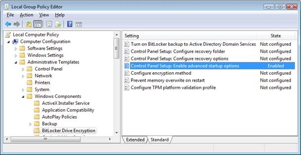 BitLocker: how to use Bitlocker encryption without TPM or